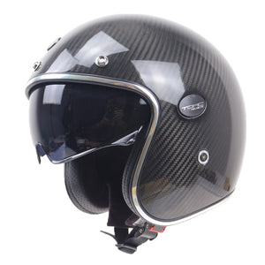 Open face motorcycle helmet Kelver Carbon Fiber Helmet With Internal Black sunglasses DOT ECE appproved helmet
