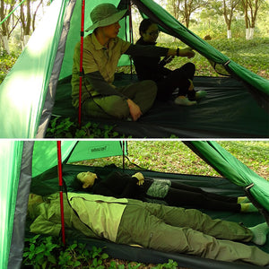 A Peak Ultra light Poleless Tent 1 2 Person for Camping Hiking Trekking Backpacking Waterproof 20D Tent Solo Single Bivvy Tent