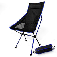 Portable Collapsible Moon Chair Fishing Camping BBQ Stool Folding Extended Hiking Seat