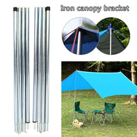 8pcs Adjustable Tent Pole Support Stand Outdoor Camping Folding Awning Rod Beach Tent Rods Accessories For Tents Shelters Hiking