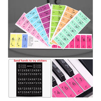 54 Keys Stickers 88 Keys Piano Keyboard  Music Decal Label Note Sound Name Stickers Piano Keyboard 61 Keys Electronic Keyboard
