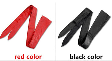 Free shipping new popular long black soft leather cummerbands bow wide waistband Hot brand belts bowknot cummerbund dress women