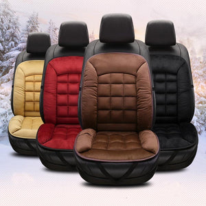 Universal Plush Car Seat Cover Warm Auto Front Back Backrest Seat Cushion Pad Car Winter Interior Protector