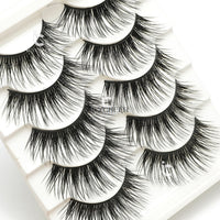 ICYCHEER Artificial 100% Mink Long Thick False Eyelashes Blue Brown Black Cross Handmade