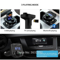 Car Bluetooth Charger Handsfree Car Kit FM Transmitter QC3.0 Car Accessories For fiat punto 500 bravo freemont stilo panda linea