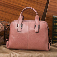Genuine Leather Women Totes Luxury Handbags Double Zipper Design Ladies Shoulder Bags Designer