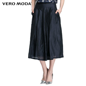 Vero Moda Brand 2019 NEW female streetwear style ankle-length solid fashion girls comfortable zipper skirts