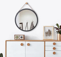 Nordic Style Bath Mirror Hotel Bathroom Hallway Wall Decoration Hanger Mirror Frame Toilet Dressing Mirrors Bath Decor LFB984