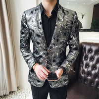 flashlight print velvet blazer men 2018 high quality stylish blazer for mens designer blazer suits jacket stage costumes 5xl