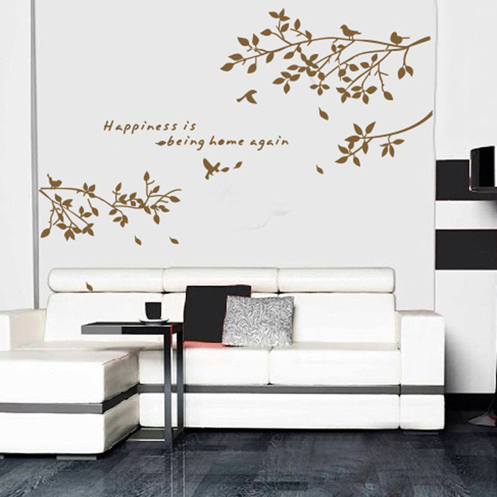 Branch Birds Art Decals Mural DIY Wallpaper for Room Decoration 60X75cm Home Decoration Accessories