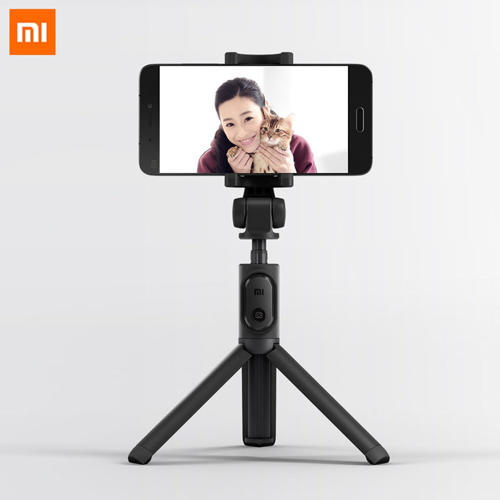 Original Xiaomi Foldable Tripod Monopod Selfie Stick Bluetooth With Wireless Button Shutter Selfie