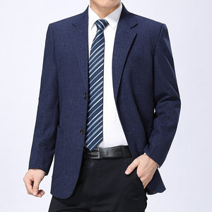 WAEOLSA Men Tailored Blazers Navy Blue Claret-red Blazer Masculino Man Business Suit Jacket Costume Homme Blazers Outfits 2019