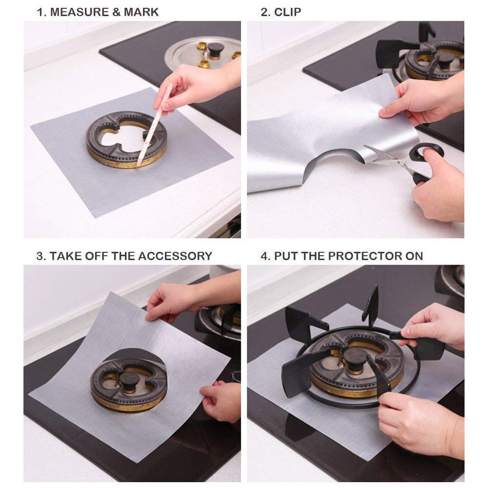 Large Appliance Accessories Heat Resistant & BPA Free and Keep Your  Stovetop Clean Silver Tolmnnts Stove Burner Covers 8 Pack Burner Protectors  FDA Aprroved Gas Range Protectors|Reusable Stovetop Burner Liners Range  Parts