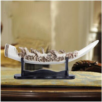European Ivory Figurines Sculptures Horse Artwork Hotel Bar Home Furnishing Decoration