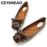CEYANEAOWomen Ballet Flats Shoes Slip-On Spring Autumn Shallow Woman Single Shoes Ladies Females Work Footwear Zapatos MujerE803