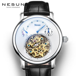 Switzerland Luxury Brand Nesun Hollow Tourbillon Watch Men Automatic Mechanical Men's Watches Sapphire Waterproof clock N9081-4