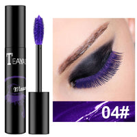 1PC Eyes Makeup Color Mascara Waterproof Easy Remove Blue White Black Purple Mascara Curling Lengthening Eyelashes TSLM1