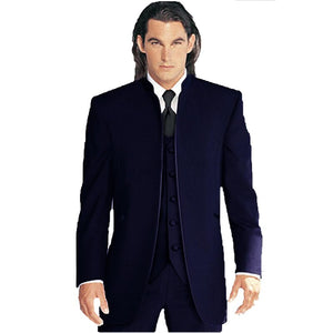 2019 Men Wedding Suits Custom Made Groom Tuxedos Best Male Formal Suit (Jacket+Pants+Vest+Tie) terno masculino costume homme