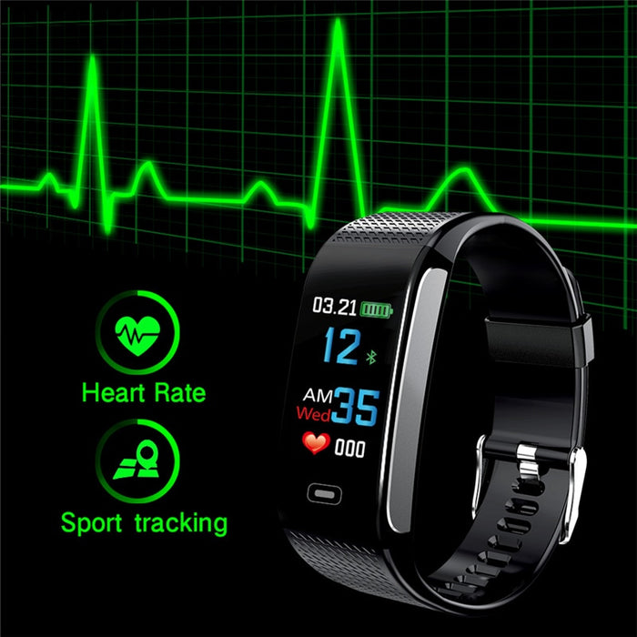 OGEDA Men Smart Watch Sports Bracelet Heart Rate Blood Pressure Health Monitoring