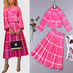 S-3XL high quality 2019 spring and summer brand new fashion solid color printing style loose pleated suit temperamen