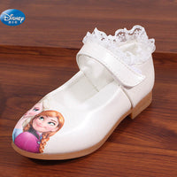 Disney frozen white Casual Shoes  girls 2017 springtime new style elsa and Anna princess soft cartoon  shoes Europe size 26-30