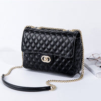New Fashion Korean Version Ladies Leather Retro Small Fragrance Chain Shoulder Messenger Bag