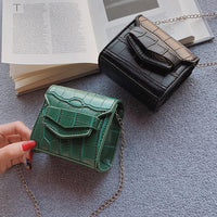 Mini Small Square bag 2019 Summer Fashion New Quality PU Leather Women's Handbag Crocodile pattern Chain Shoulder Messenger Bags