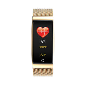 2020 Newest Metal Smartn watch Wristband waterpoof Blood Pressure Heart Rate Monitor
