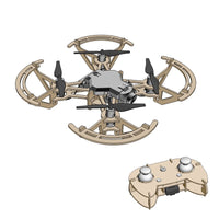 Manual DIY assembled Wooden Drone One Button Takeoff Landing Headless Mode One Button Tumbling 480P WiFi HD aerial 2.4G RC Drone