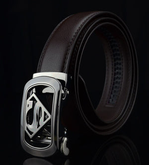 KWD 2019 New Superman Automatic Buckle Leather Waist Belt Designer Belts Men High Quality Luxury Brand Belt for Jeans Cinturon