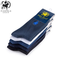 High Quality Fashion 5 Pairs/lot Brand PIER POLO Casual Cotton Socks Business Embroidery Men's Socks Manufacturer Wholesale