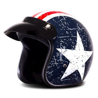 New Motorcycle Helmet Retro Vintage Synthetic Casco Moto Cruiser Chopper Scooter Cafe Racer