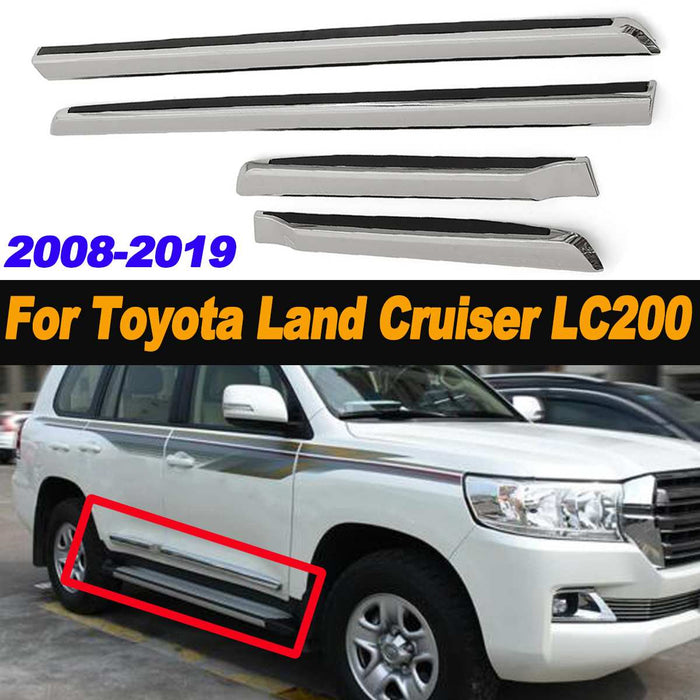4pcs Chrome Door Side Molding ABS Car Body Line Trim for Toyota for Land Cruiser LC200