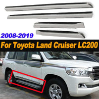 4pcs Chrome Door Side Molding ABS Car Body Line Trim for Toyota for Land Cruiser LC200 2008-2019 Chrome Styling