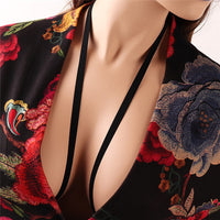 Sexy Lace Bralette Women Sheer Embroider Rose Bandage Lingerie Bra Women Corset Breathable Adjusted Bustier Bra Underwear-16