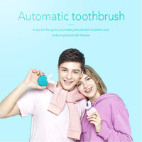 360 Degrees Intelligent Automatic Sonic Electronic Toothbrush USB Rechargeable U Shape with 4 Modes Timer Blue Light Toothpaste