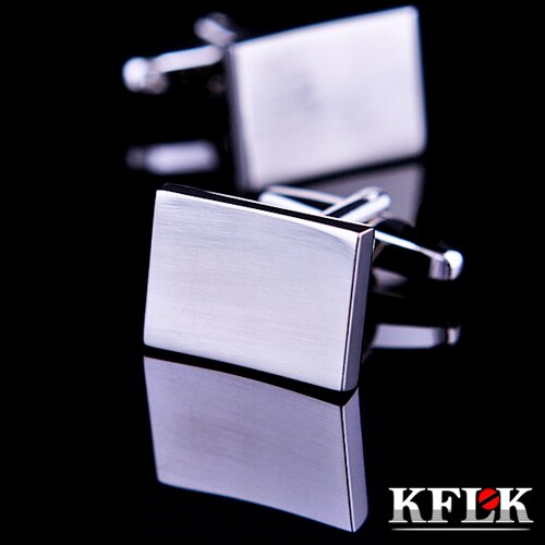 KFLK Luxury shirt cufflinks for mens Brand cuff buttons Silver cuff link High Quality Cambered =