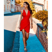 Christmas Sexy Cocktail Dress Ever Pretty EP05857 Sexy New Formal Dress Deep V-Neck Sleeveless Slim vestidos cortos de coktel