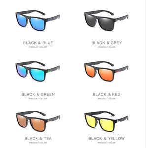 Men Polarized TR90 Sunglasses Vintage Anti-UV Driving Driver Black Goggles Eyewear Rectangle Shades Men Oculos masculino Male
