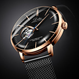 2019 tourbillon automatic mechanical stainless steel relojes de mujer dw man wrist hand bracelet watch