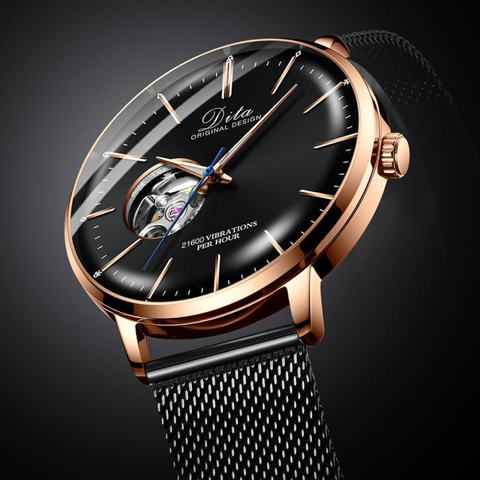 2019 tourbillon automatic mechanical stainless steel relojes de mujer dw man wrist hand