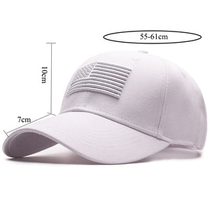 TACVASEN Tactical Baseball Cap Men Summer USA Flag Sun Protection Snapback Cap Male Fashion Casual Golf Baseball Hat Airsoft Hat