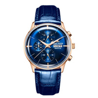 Top Brand Luxury Automatic Watch Reloj Hombre Multi Function Rose Gold Fashion Watches Leather