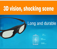 Universal Battery DLP Active Shutter 3D Glasses  96-144Hz For XGIMI JMGO Most DLP Home Theater Projector 3D TV