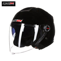 LS2 578 Retro Open Face Motocycle Helmet with Double Lens Vintage Woman Man Scooter ls2