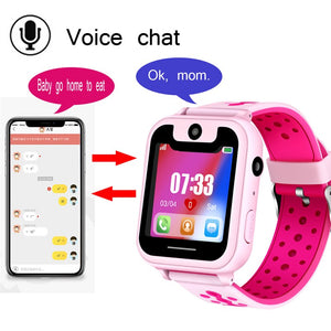 LIGE 2019 New children's smart watch LBS remote positioning SOS emergency mobile phone reminder voice chat support SIM camera