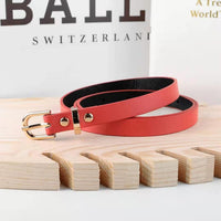 5 colors fashion female thin belt women 2019 high quality Strap women leather trouser children's