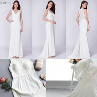 Robe De Mariee Ever Pretty New Arrival Elegant Simple A Line V-Neck Small Train Sleeveless Lace Mariage Vintage Bridal Gowns
