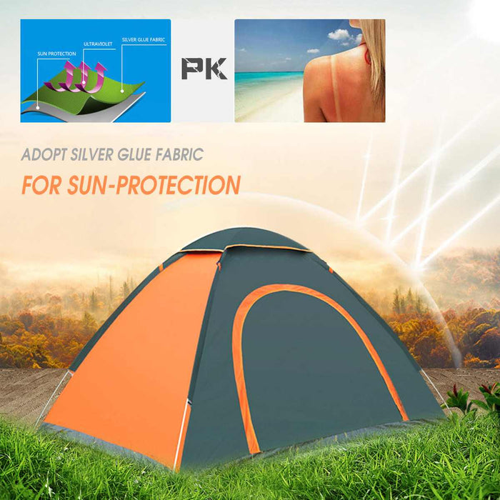 2-3 Person Waterproof Camping Tent Quick Automatic Open Outdoor Portable Shelter Hiking