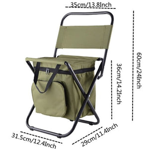 VILEAD Folding Portable Camping Cooler Chair Picnic Fishing Beach Hiking Outdoor Backpack
